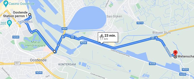 Fietsroute VITO Oostende