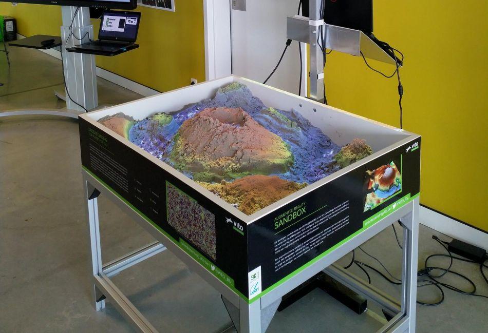 De augmented reality sandbox
