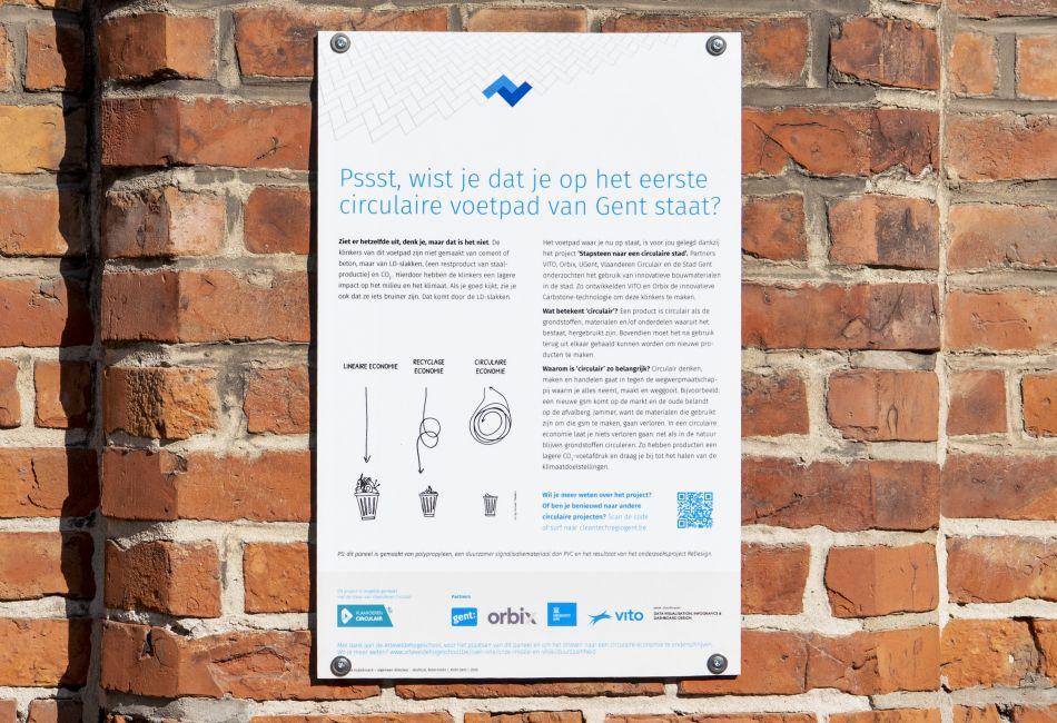 Poster Stapsteen naar een circulaire stad