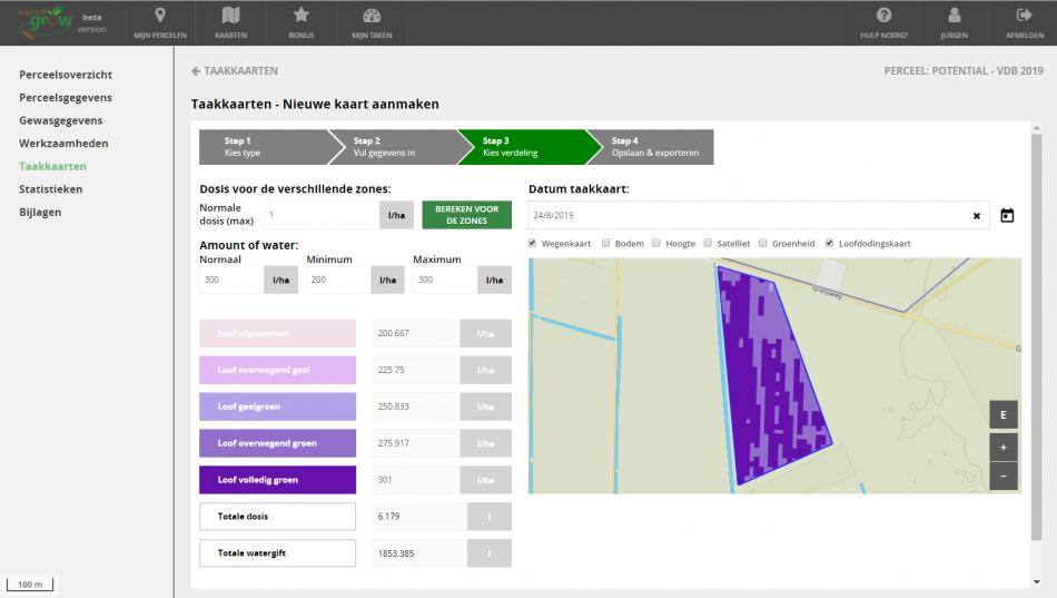 Screenshot task map WatchITgrow